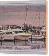 Gulf Coast Dock Wood Print