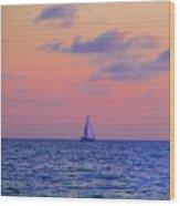 Gulf Coast Sailboat Wood Print