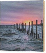 Gulf Coast Sunrise Wood Print
