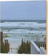 Gulf Coast Waves Wood Print