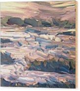 Gulf Island Sunset Wood Print