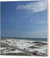 Gulf Of Mexico At Pensacola Beach Wood Print