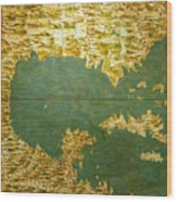 Gulf Of Mexico, States Of Central America, Cuba And Southern United States Wood Print