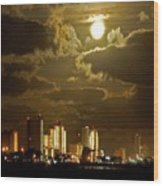 Gulf Shores Night Skys Wood Print