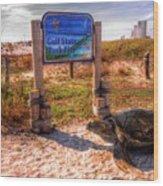 Gulf State Pier Wood Print