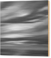 Gulf Sunset In Black And White Wood Print