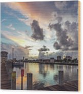 Gulfport Harbor Colors Wood Print