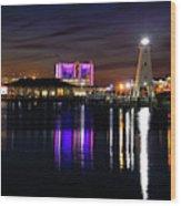 Gulfport Lighthouse - Mississippi - Harbor Wood Print