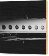 Gulfstream V Windows Wood Print