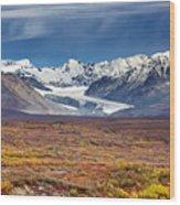 Gulkana Glacier Wood Print