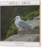 Gull Able Wood Print