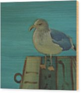 Gull And Ring Wood Print