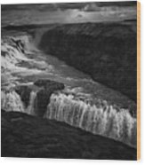 Gullfoss Waterfall Wood Print