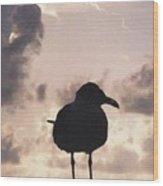 Gullhouette Wood Print