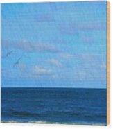 Gulls And Water Wood Print