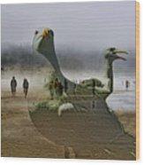 Gulls Dream Wood Print
