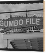 Gumbo File Wood Print