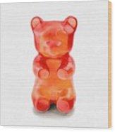 Gummy Bear Red Orange Wood Print
