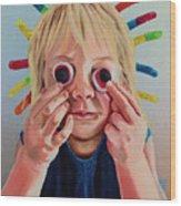 Gummy Eyes Gummy Worms Wood Print