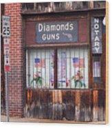 Johnson City Tennessee - Gun Shop Wood Print