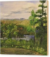 Gunflint Overlook Wood Print