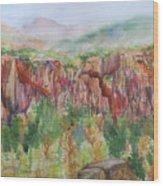 Gunnison Ridge Colorado Wood Print