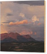 Gunnison Sunset Wood Print