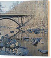 Gunpowder Falls St Pk Bridge - Pano Wood Print