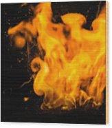 Gunpowder Flames Wood Print