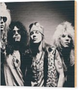 Guns N' Roses - Band Portrait Wood Print