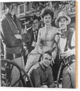 Gunsmoke Cast James Arness Amanda Blake And Burt Reynolds Wood Print