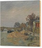 Gustave Loiseau 1865 - 1935 Marie Bridge In Paris Wood Print