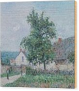 Gustave Loiseau 1865 - 1935 Small Farm In Vaudreuil, Time Gray Wood Print