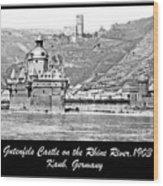 Gutenfels Castle On The Rhine, Kaub, Germany, 1903, Vintage Phot Wood Print