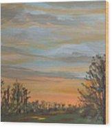 Gwinnetian Sunset Wood Print