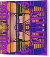 Gym Staircase Wood Print