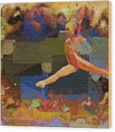 Gymnast Girl Wood Print