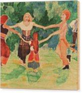 Gypsies Dancing Wood Print