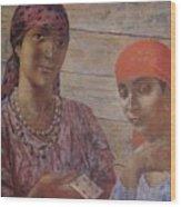 Gypsies Kuzma Petrov-vodkin - 1926-1927 Wood Print