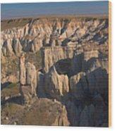 Gypsum Cliffs Wood Print