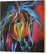 Gypsy Equine Wood Print