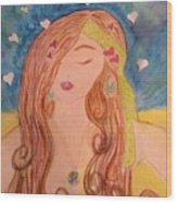 Gypsy Girl 2 Love To The World Wood Print