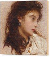 Gypsy Girl Wood Print by George Elgar Hicks