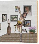 Digital Exhibartition _  Dancing Girl  Wood Print