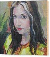Gypsy Girl Wood Print