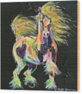 Gypsy Gold Pony Wood Print