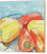 Gypsy Peppers Wood Print