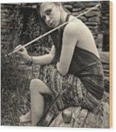Gypsy Player Wood Print