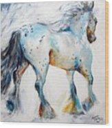 Gypsy Vanner Motion Paint Sketch Wood Print