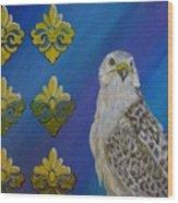 Gyr Falcon Wood Print